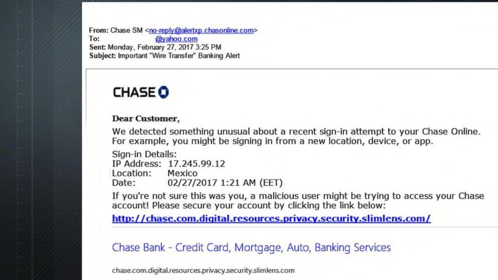fake chase bank login