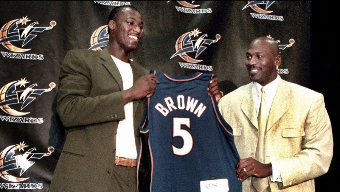 Kwame Brown #1 Overall NBA Michael Jordan Wizards
