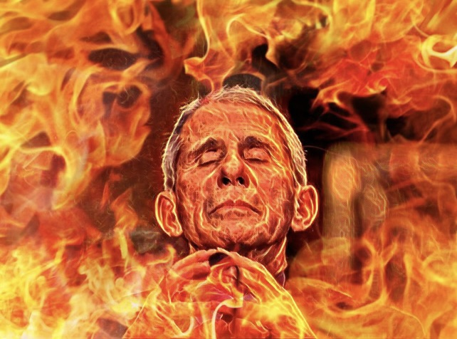 Fauci Fauci in Hell Fire Fire Fauci Hell