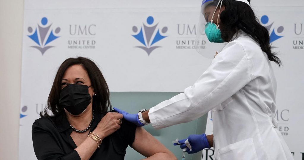Fauci COVID  Covid-19  Vaccine Mask Kamala Harris Shot